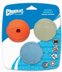 Chuckit Fetch Medley Assorted Medium (3Pk)